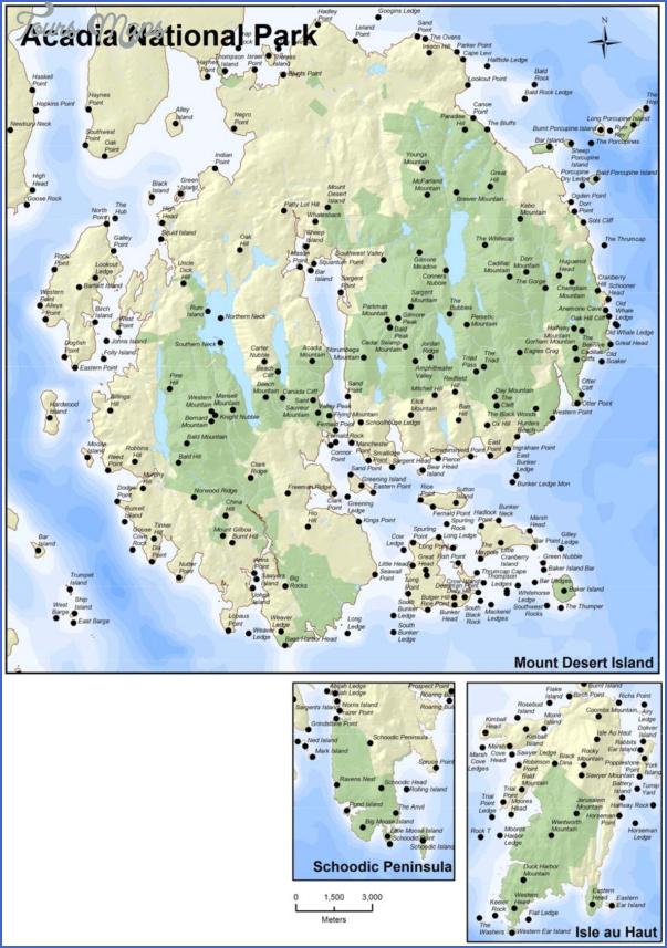 acadia national park hiking map 4 Acadia National Park Hiking Map