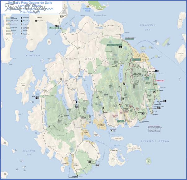 acadia national park hiking map 7 Acadia National Park Hiking Map