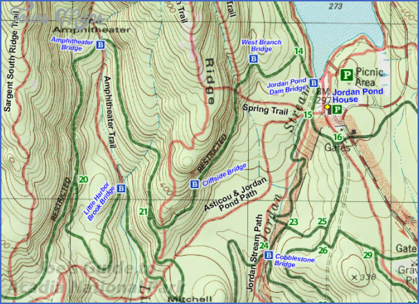 acadia national park hiking map 8 Acadia National Park Hiking Map