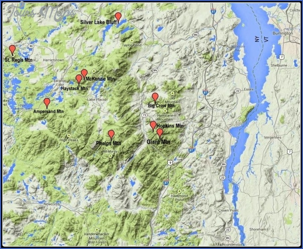 adirondack hiking map 10 Adirondack Hiking Map