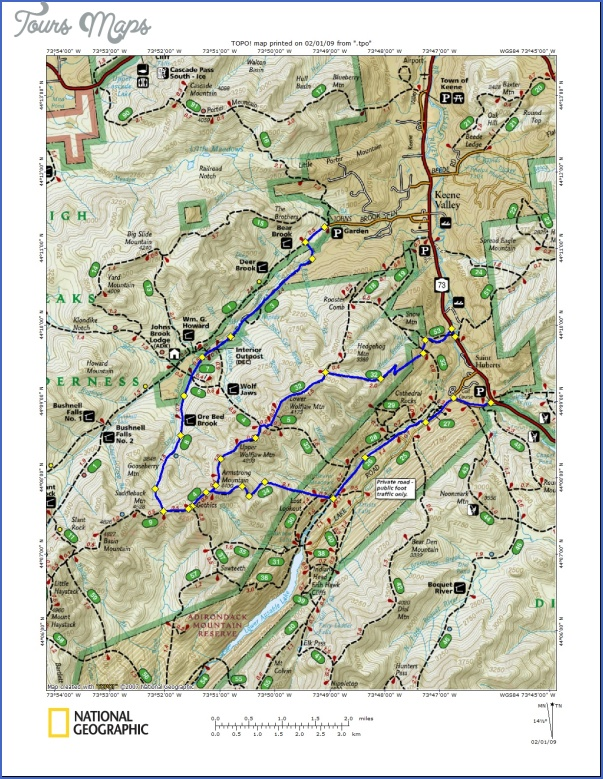 adirondack hiking map 11 1 Adirondack Hiking Map