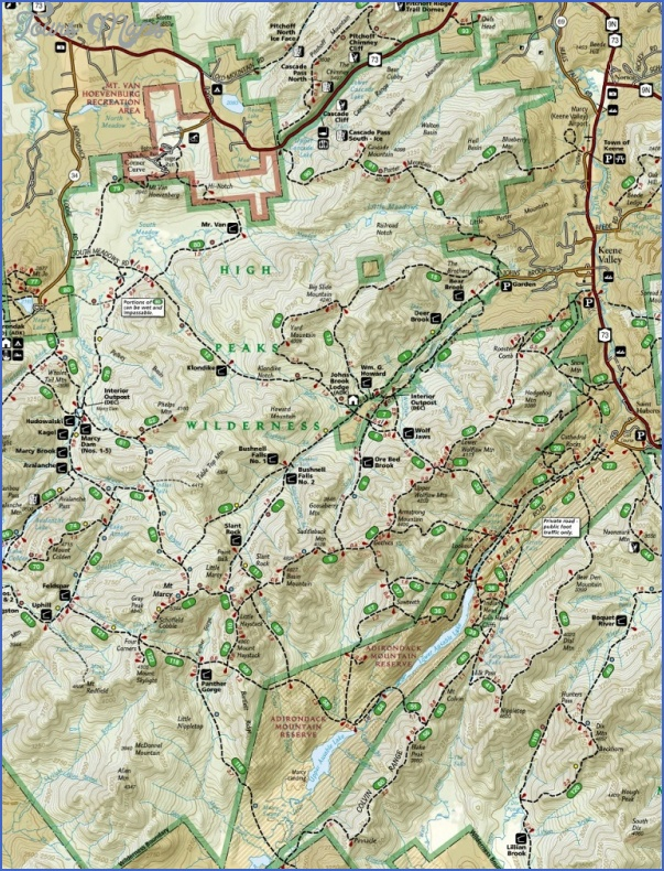 adirondack hiking map 12 Adirondack Hiking Map