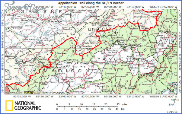 appalachian trail hiking map 1 Appalachian Trail Hiking Map