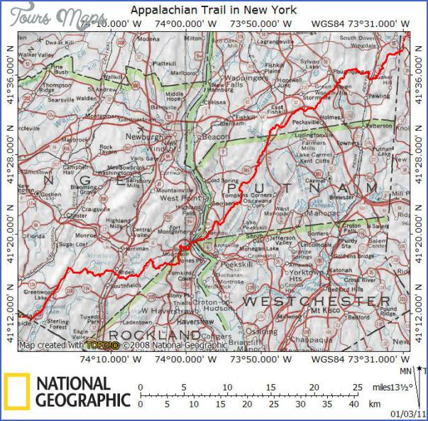 appalachian trail hiking map 10 Appalachian Trail Hiking Map