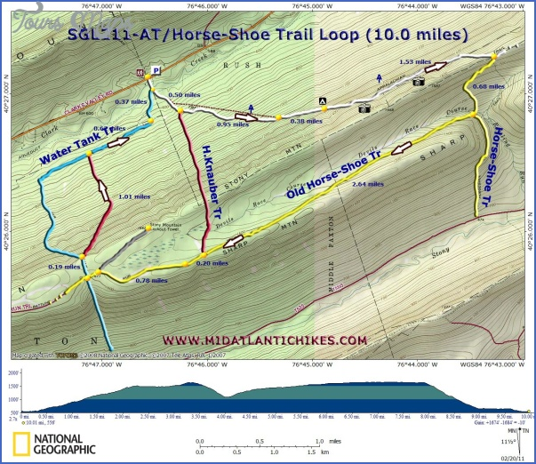 appalachian trail hiking map 12 Appalachian Trail Hiking Map
