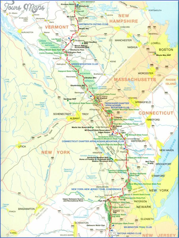 Appalachian Trail Hiking Map Toursmaps Com