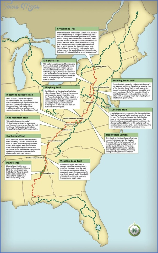 appalachian trail hiking map 4 Appalachian Trail Hiking Map