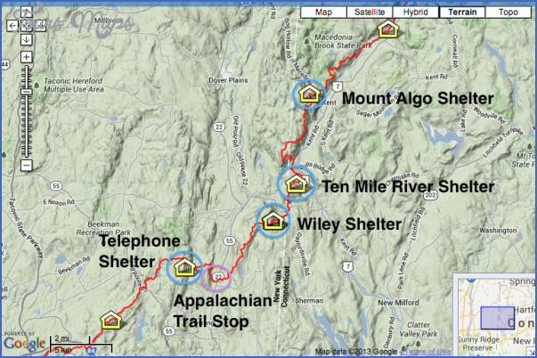 appalachian trail hiking map 7 Appalachian Trail Hiking Map