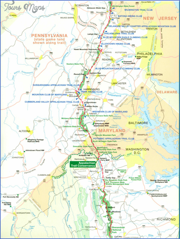 appalachian trail hiking map 9 Appalachian Trail Hiking Map