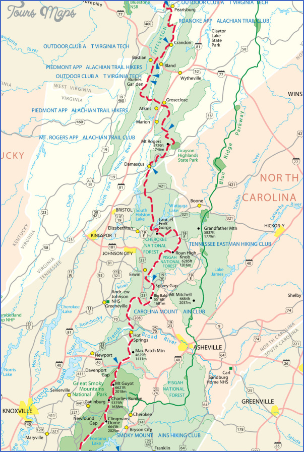 appalachian trail hiking maps 3 Appalachian Trail Hiking Maps