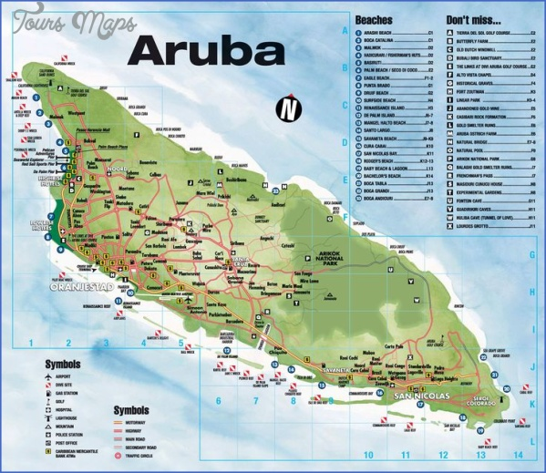 aruba map location  8 Aruba Map Location