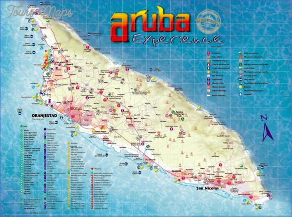 aruba map with cities  4 Aruba Map With Cities