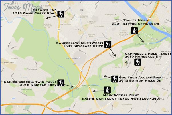 austin hike and bike trail map 1 Austin Hike And Bike Trail Map