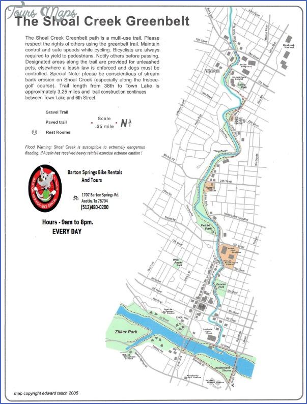 austin hike and bike trail map 2 Austin Hike And Bike Trail Map