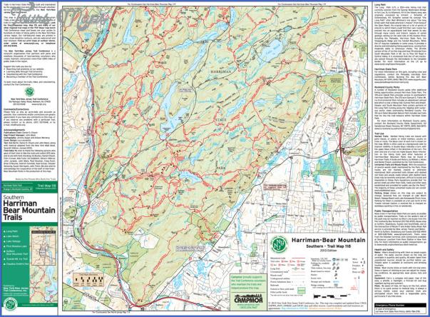 bear mountain hiking trail map 7 Bear Mountain Hiking Trail Map