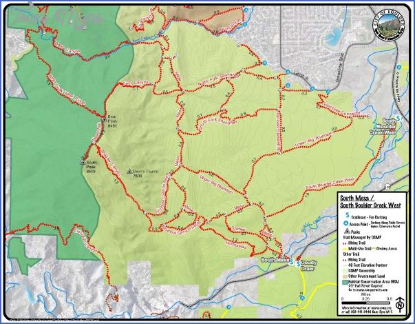 boulder hiking trails map 10 Boulder Hiking Trails Map