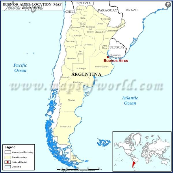 buenos aires argentina map location  1 Buenos Aires Argentina Map Location