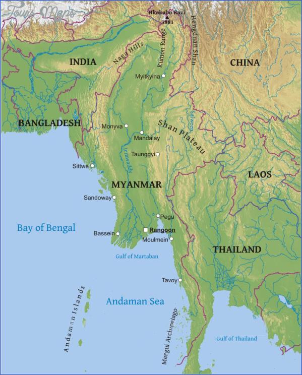 burma country map 2 Burma Country Map