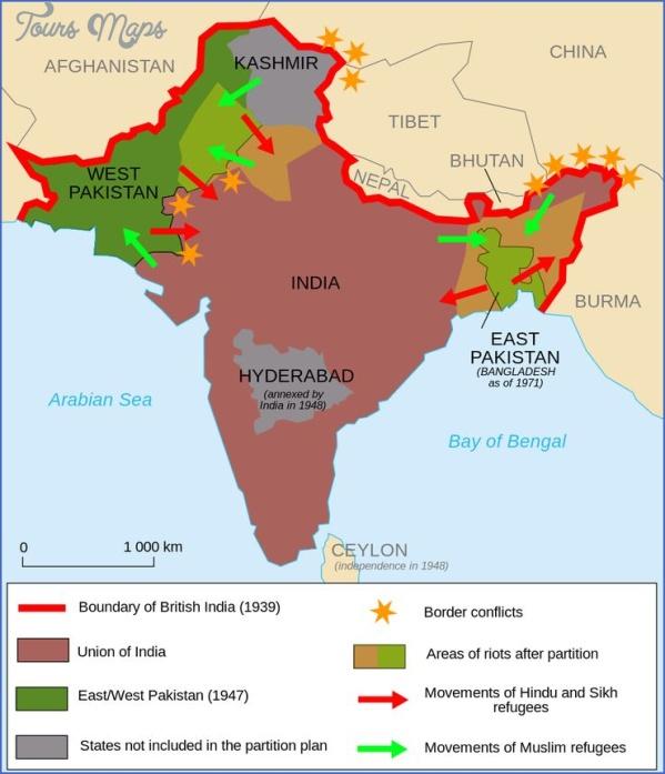 burma india map 4 Burma India Map