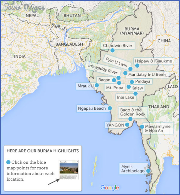 Burma Location On World Map Toursmaps Com