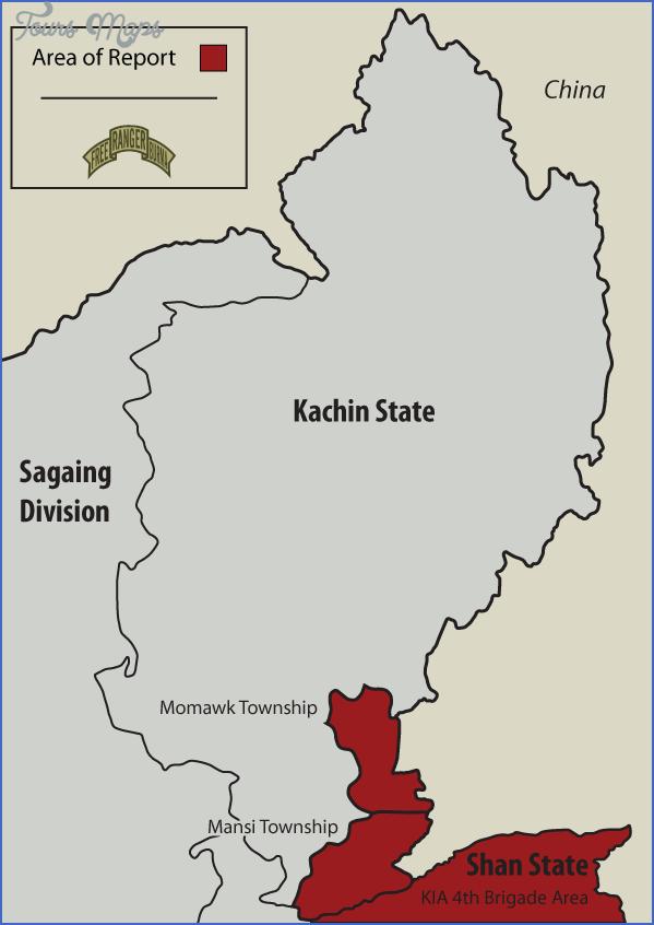 burma map with states 10 Burma Map With States