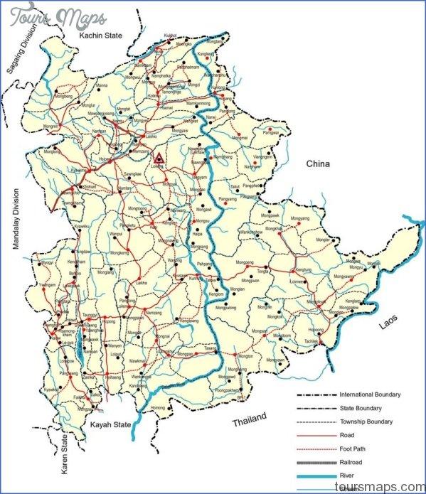 burma map with states 2 Burma Map With States