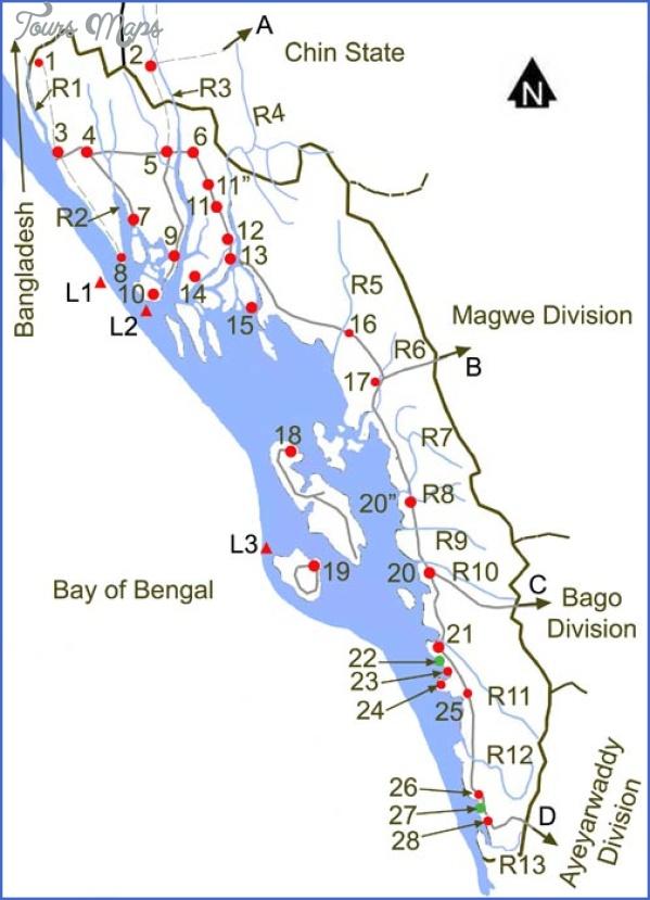 burma map with states 7 Burma Map With States