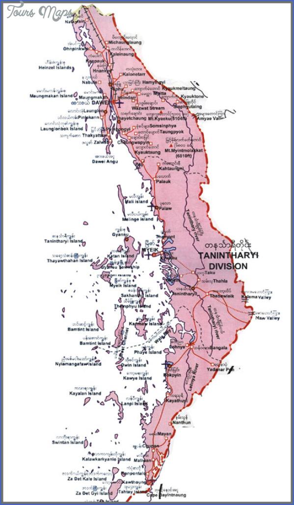 burma map with states 9 Burma Map With States