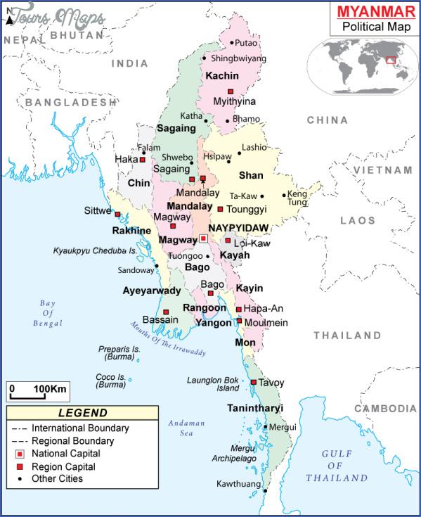 burma myanmar map 4 Burma Myanmar Map