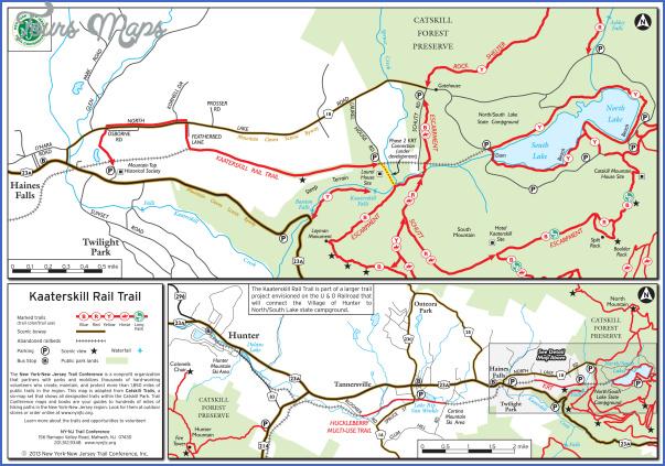 catskill hiking map 12 Catskill Hiking Map