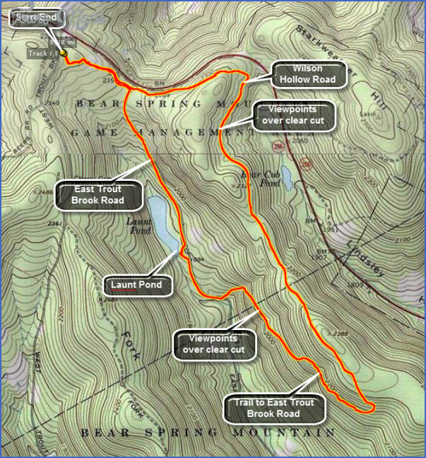 catskill hiking map 9 Catskill Hiking Map