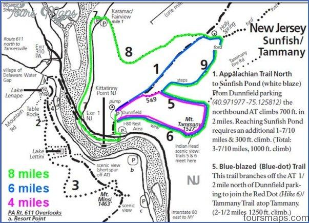 Delaware Water Gap Hiking Map - ToursMaps.com ® on