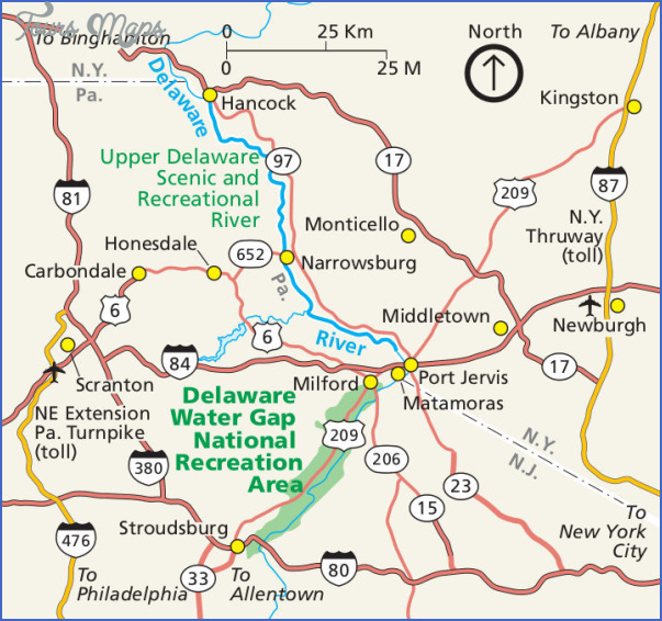 delaware water gap hiking map 10 Delaware Water Gap Hiking Map
