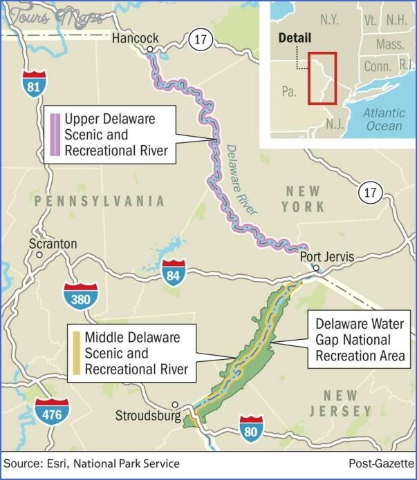 delaware water gap hiking map 14 Delaware Water Gap Hiking Map
