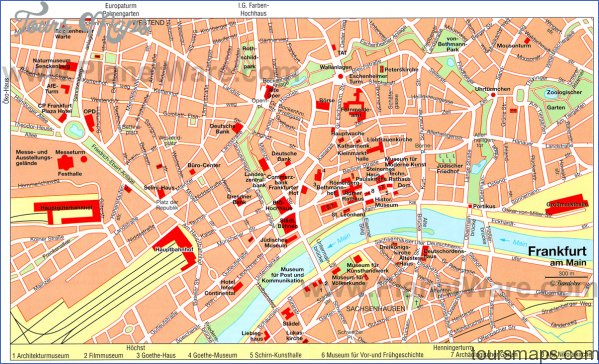 Map Of Frankfurt Germany And Surrounding Area Archives Toursmaps Com