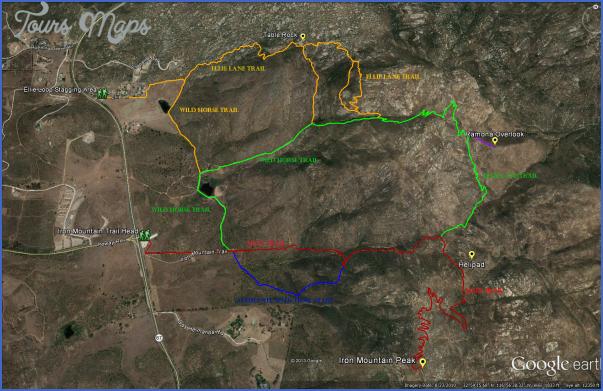 Google Maps Hiking Trails ToursMapscom - Google maps trails