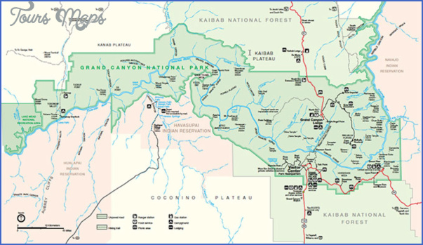 grand canyon hiking map 10 Grand Canyon Hiking Map