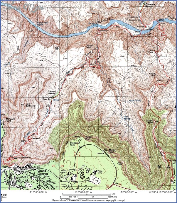 grand canyon hiking map 12 Grand Canyon Hiking Map