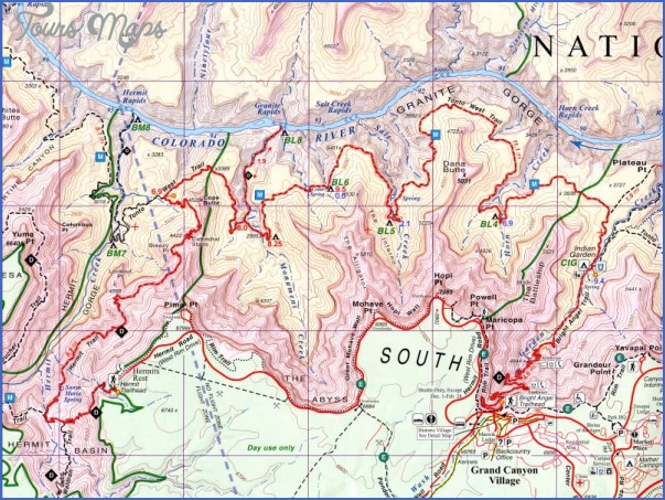 grand canyon hiking map 14 Grand Canyon Hiking Map