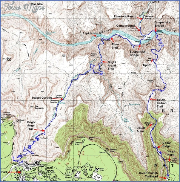 grand canyon hiking map 6 Grand Canyon Hiking Map