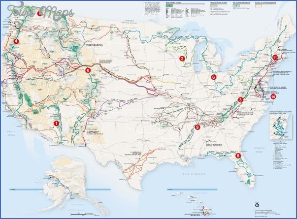 hiking trails map 11 1 Hiking Trails Map