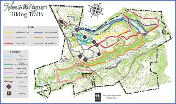 hiking trails map 14 Hiking Trails Map