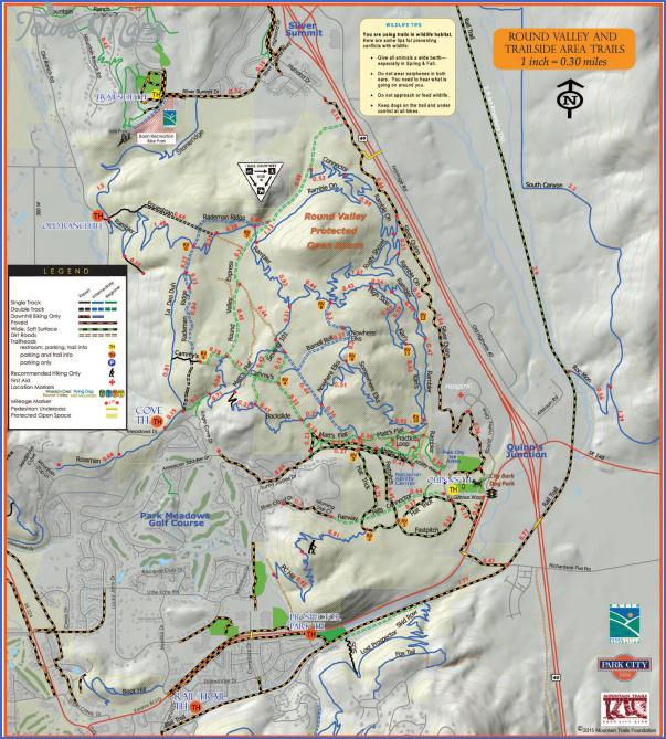hiking trails map 8 1 Hiking Trails Map