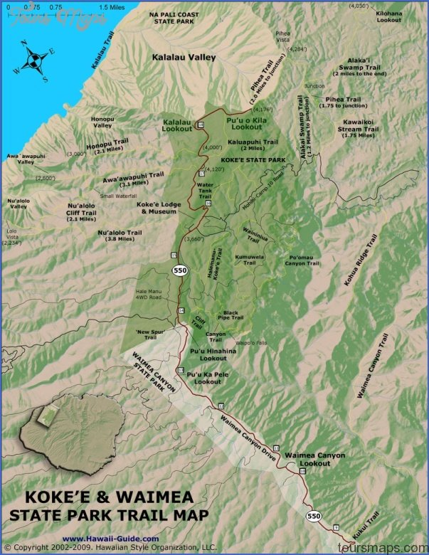 kauai hiking map 0 Kauai Hiking Map