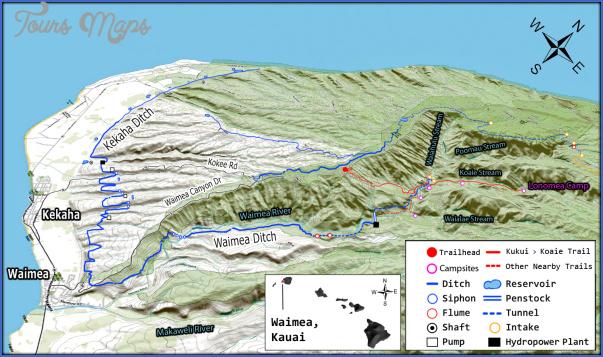 kauai hiking map 11 Kauai Hiking Map