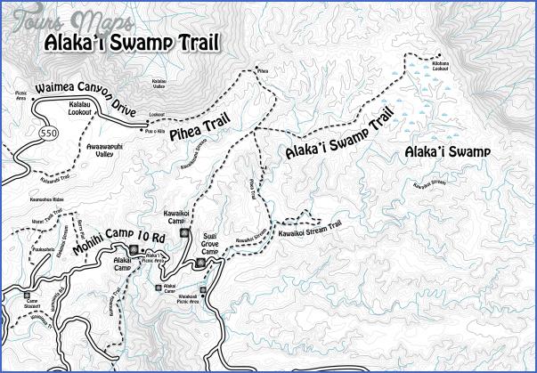 kauai hiking map 13 Kauai Hiking Map
