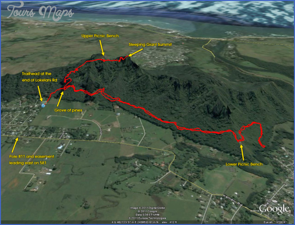 kauai hiking map 4 Kauai Hiking Map