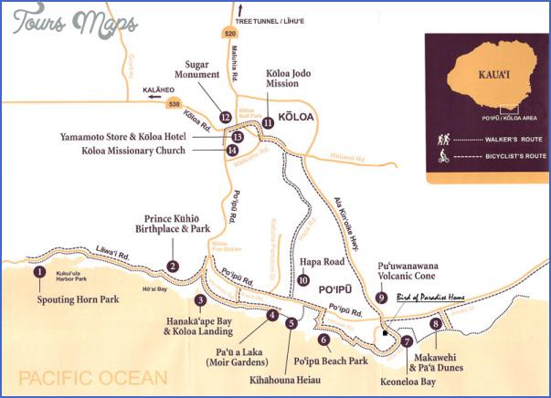 kauai hiking map 7 Kauai Hiking Map
