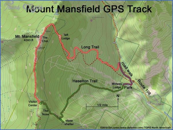 killington hiking trail map 1 Killington Hiking Trail Map