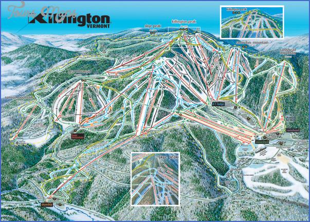 killington hiking trail map 11 Killington Hiking Trail Map
